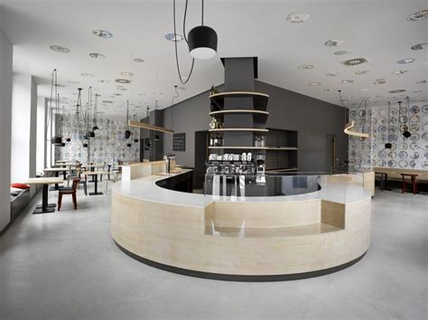 Restaurants Decor Ideas by Cafe In Prague Proves Minimalist Interiors Can Be Playful