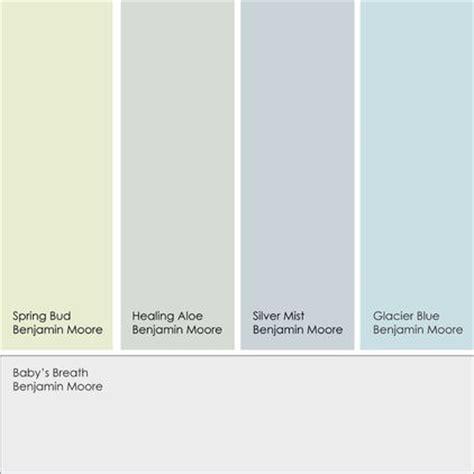 benjamin paint colors bud healing aloe silver mist glacier blue home