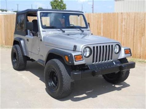 Jeep 4x4 Wrangler For Sale 2002 Jeep Wrangler 4x4 Sport For Sale