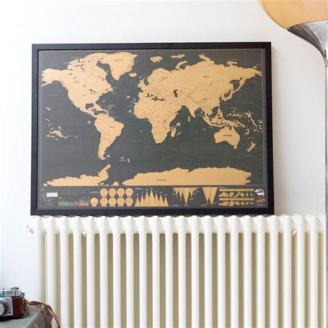 map picture frame scratch map 174 deluxe poster framed by luckies