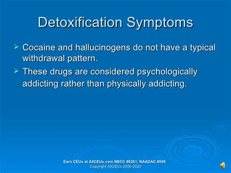 Detox Symptoms Tingling by Drugs Of Abuse Hallucinogens