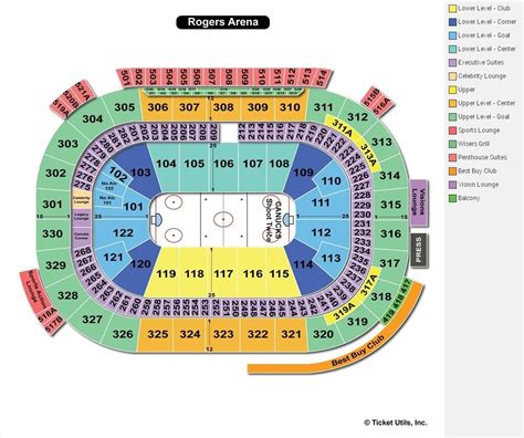 rogers arena floor seating plan rogers arena seating chart rogers arena vancouver seat