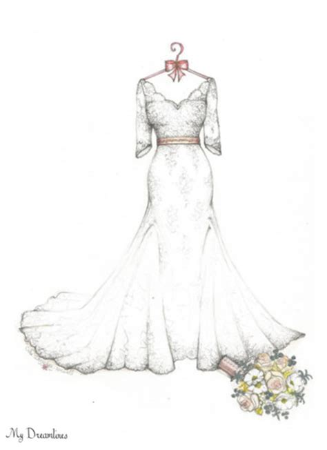 Kleider Design Vorlage Dreamlines Dress Sketch O Fallon Mo Wedding Dress