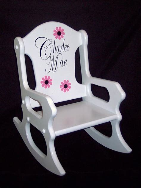 childs rocking chair personalized - Childs Wooden Chair Personalised