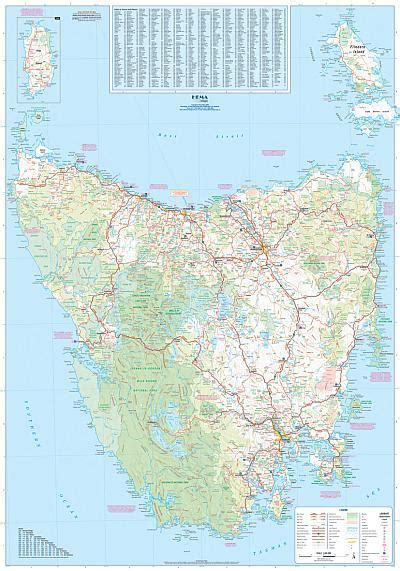 Free Floor Planning tasmania hema state laminated buy wall map of tasmania
