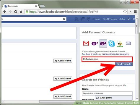 Search Fb Friends By Email How To Use The Friend Finder Tool 7 Steps
