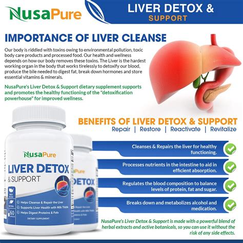 Detox Cleanse Fort Worth Vitamins by Liver Support Detox Cleanse Supplement With Milk Thistle