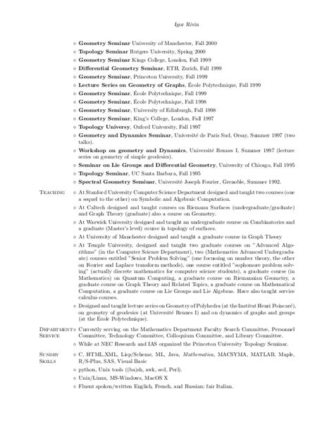 an up to date resume