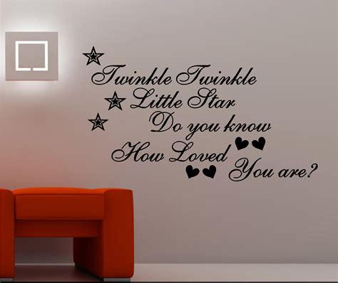 twinkle twinkle wall art vinyl kids bedroom quote do you