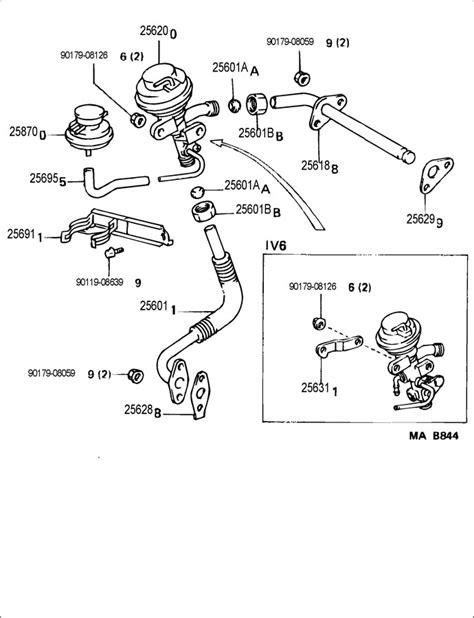 1994 Toyota 4runner Exhaust System Toyota Exhaust Gas Recirculation System