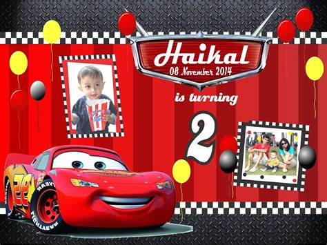 cars birthday banner template sanggar badut sulap october 2016