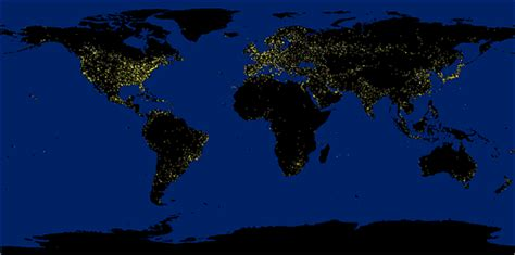 world map city lights bigpicturesmallworld home