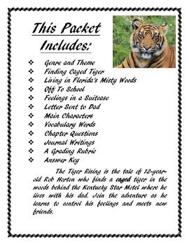 the tiger and the acrobat books the tiger rising book report and lapbook by finch tpt