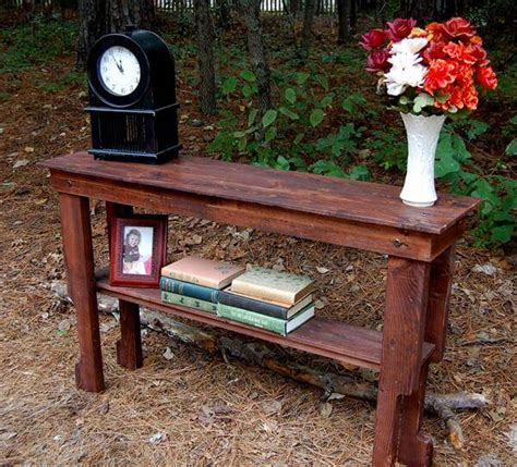 Diy Pallet Entryway Table And Sofa Table 101 Pallets Pallet Sofa Table