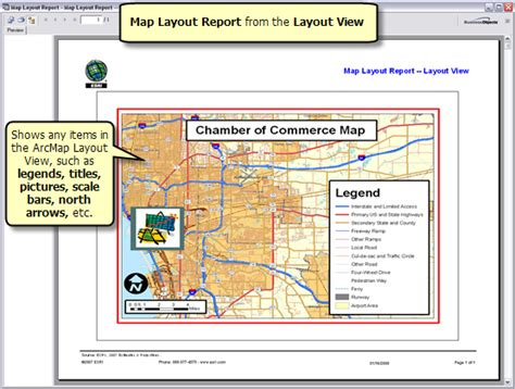 arcgis layout view scale arcgis desktop help 9 3 running a map layout report