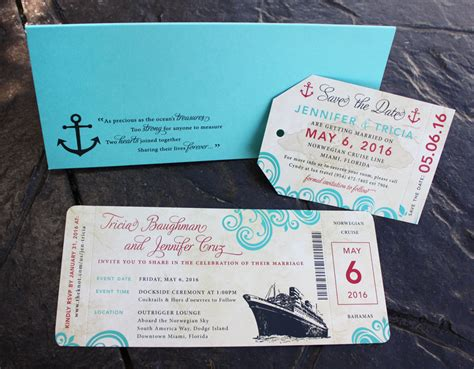 cruise wedding save the date announcement themes archives emdotzee designs