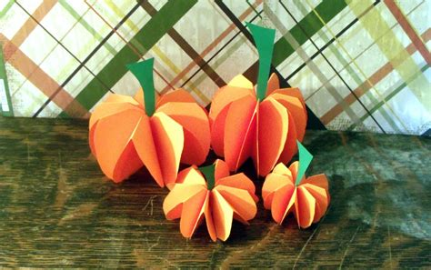 How To Make 3d Pumpkin Out Of Paper - how to make a paper pumpkin decorations or centerpiece