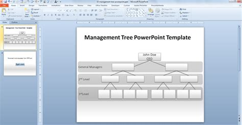 business tree template how to make a management tree template in powerpoint from