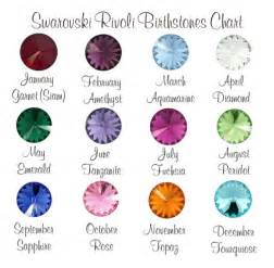 birthstone color for february add a birthstone swarovski rivoli stones
