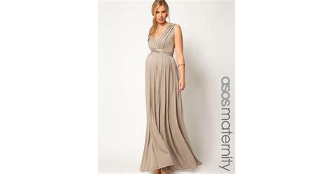 grecian drape dress asos maternity maxi dress in grecian drape in beige