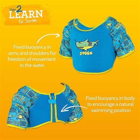 Zoggs Sea Water Wing Vest 2 3year learning to swim with zoggs wings how far are we in our