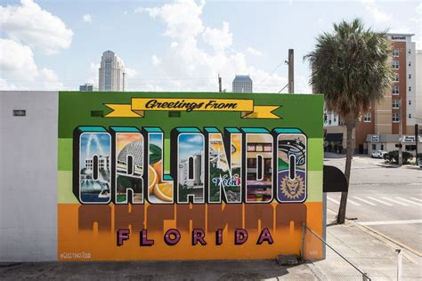 City Wall Murals greetings from orlando florida mural greetings tour