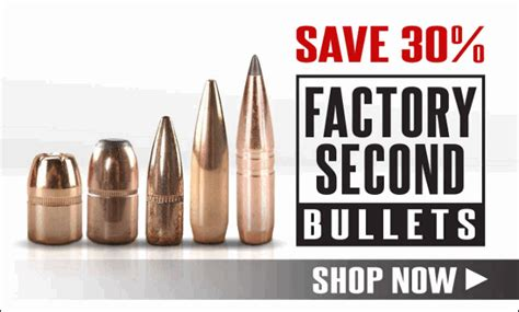 major brand factory second bullets sale at midwayusa