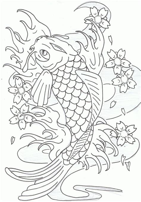 koi fish coloring book coloring book of koi fish for relaxation and stress relief for adults coloring books for grownups volume 73 books leaping koi fish by heavy metal ink on deviantart