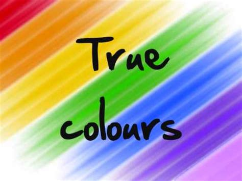 true colors tv show true colours glee cast version lyrics
