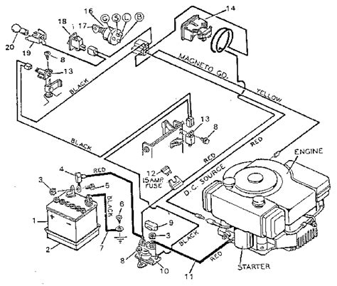 sears lawn mower wiring diagram get free image
