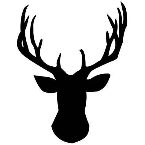 deer head deer head silhouette clip art cliparts co