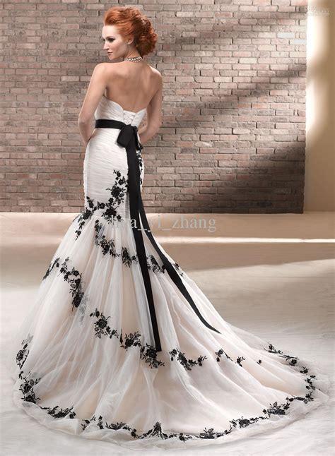 White Black Wedding Dresses by 30 Black And White Wedding Dresses Combination Fashion Fuz