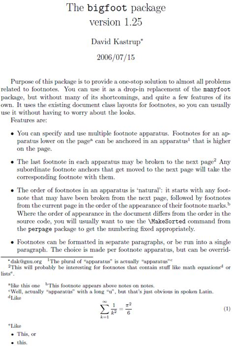 footnote format in latex nesting footception footnote within a footnote within a