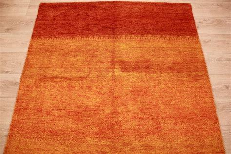 orient teppich orient teppich quot gabbeh quot reine wolle 198x143 cm orange