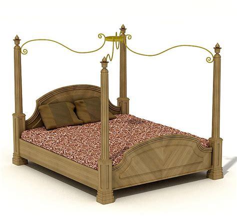 rustic canopy bed rustic canopy bed 3d model obj cgtrader com