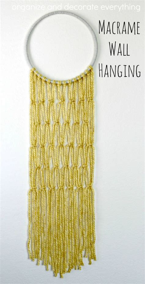 macrame wall hanging organize and decorate everything
