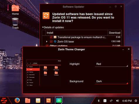 theme changer themes zorin os an ultimate linux desktop designed for windows
