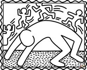 Ausmalbild Bridge Exercise Von Keith Haring  Ausmalbilder Kostenlos sketch template