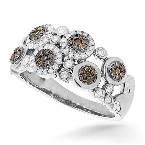 flower design diamond ring right hand rings unique flower design white chagne