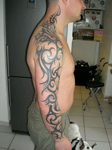 tribal full body tattoo designstattoo tribal arm sleeve design
