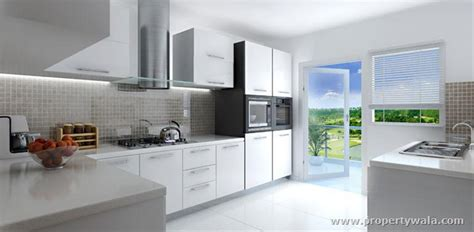 godrej kitchen interiors godrej summit sector 104 gurgaon apartment flat project propertywala