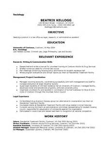 resume template sociology major