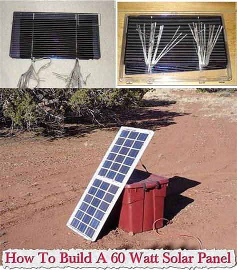 how to build a solar array how to build a 60 watt solar panel
