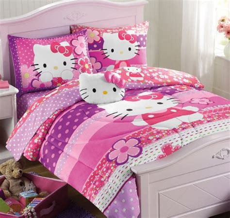 hello kitty 4 piece bedroom in a box hello kitty bedding for girls top picks beddings center