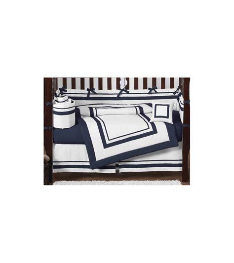 White And Navy Crib Bedding Sweet Jojo Designs Hotel White Navy 9 Crib Bedding Set