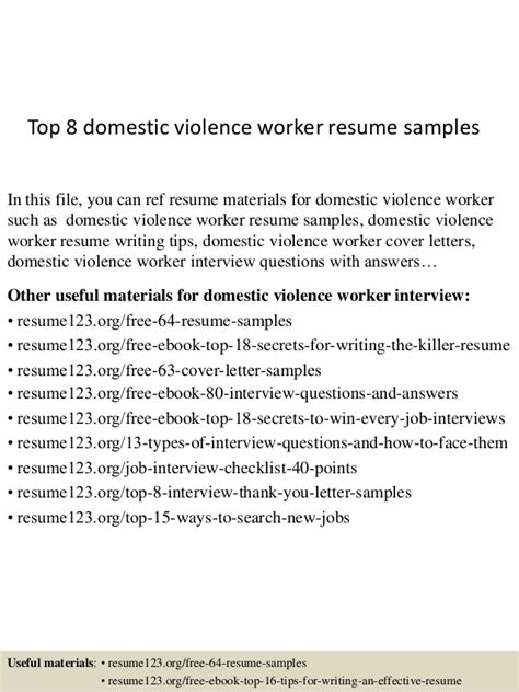 top  domestic violence worker resume samples