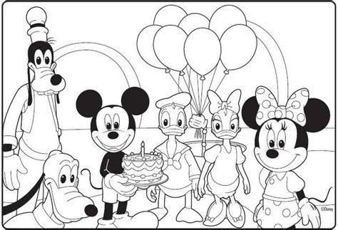 mickey mouse clubhouse birthday coloring page birthday