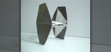 How To Fold Wars Origami - how to fold an origami tie fighter from wars