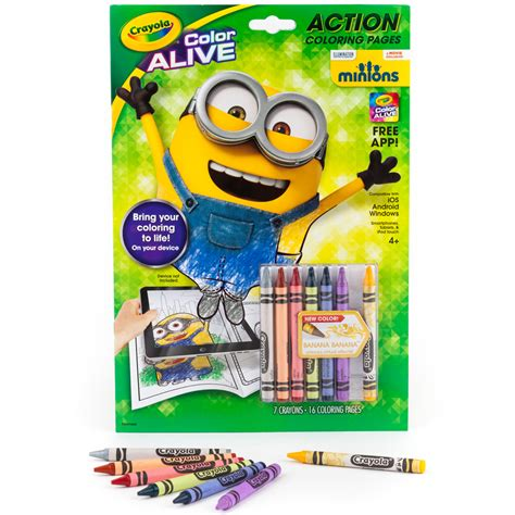 color alive crayola crayola color alive animated minions pages