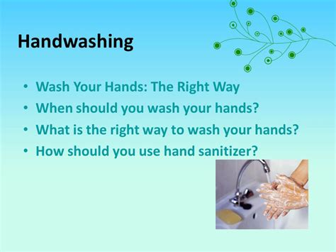 What Is The Right Way To Wash Your Hair by Germs An Environmental Approach How Do Germs Spread Ppt